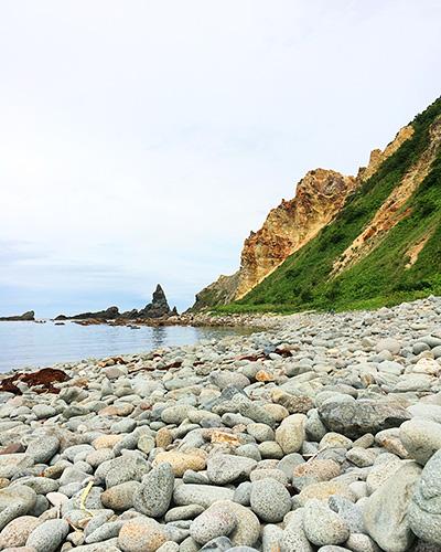 島武意海岸の風景
