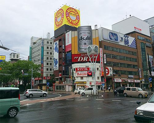 雨模様な札幌市街