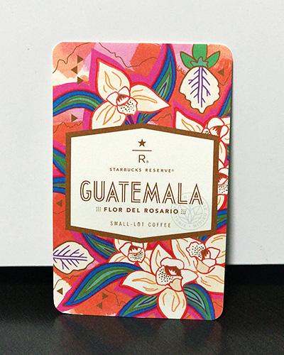 グアテマラ フロール デル ロザリオの紹介カード(表面)
