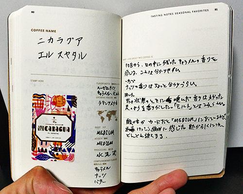 コーヒーパスポートに書いた内容