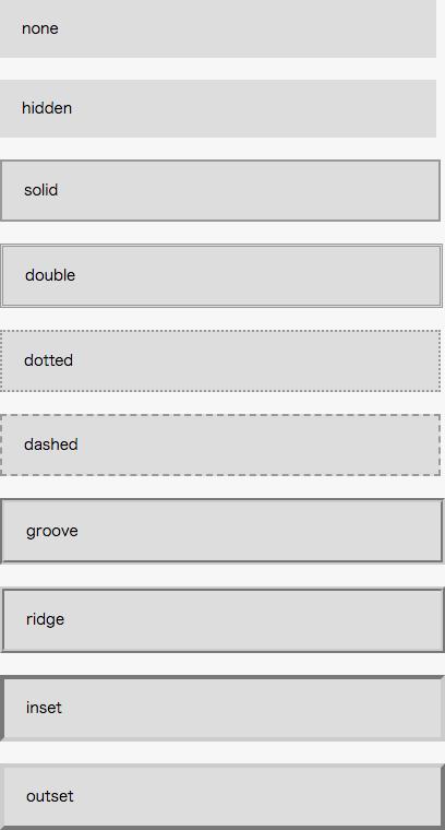 枠線の表示例