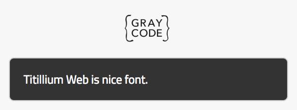 フォント適用例