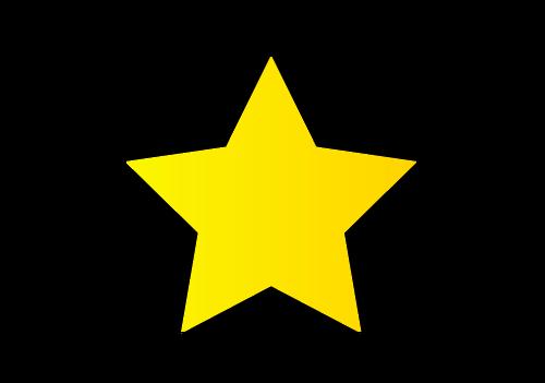 シンプルな星の画像