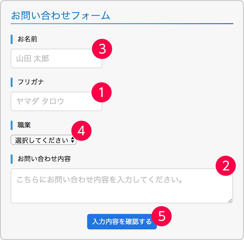 フォームの移動順序イメージ
