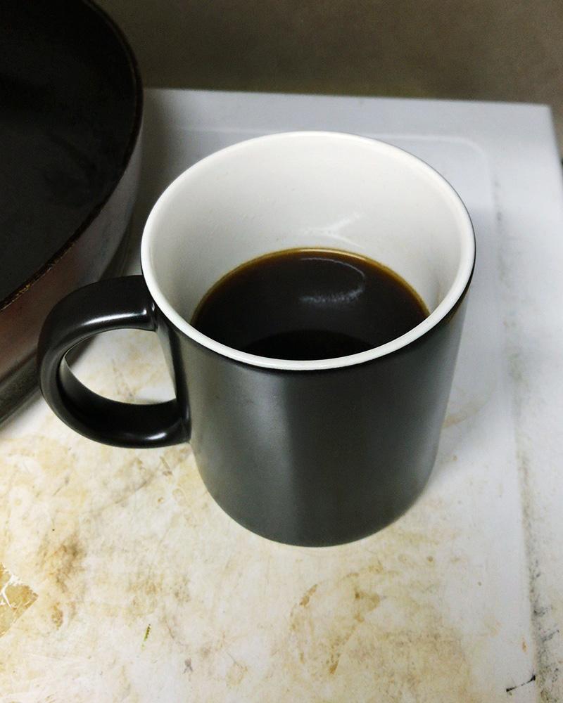 淹れたての美味しそうなコーヒー