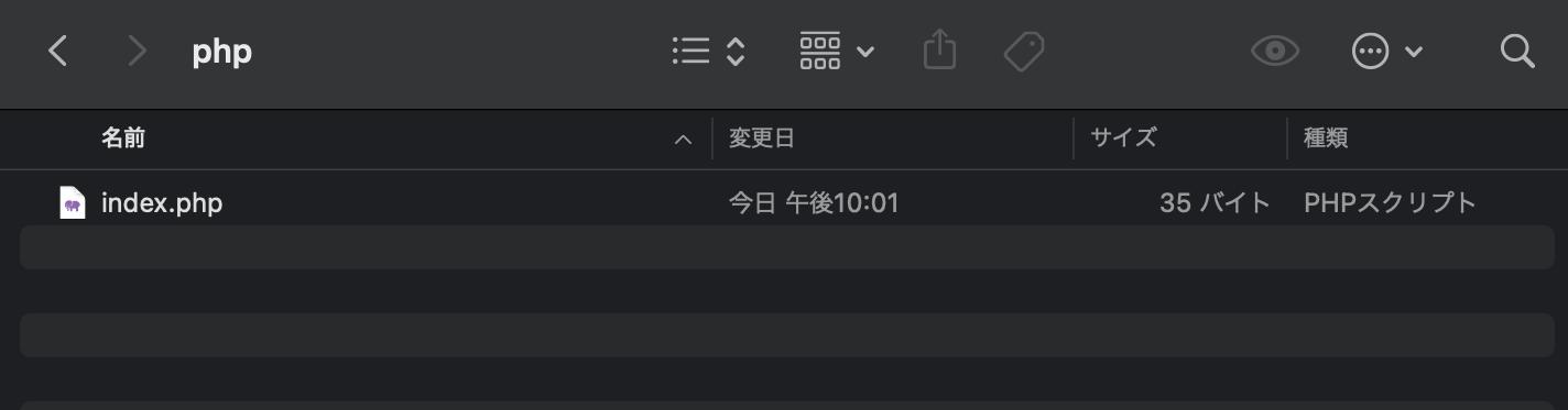 ディレクトリ内にindex.phpを配置